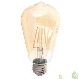 Lâmpada ST64 AMBER Filamento E27,  6W