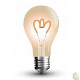 Lâmpada LED E27 4w»40W 2200K 400Lm G80 VINTAGE AMBER