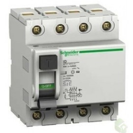interruptor diferencial 4P SÍ, 63A, 30mA 400V